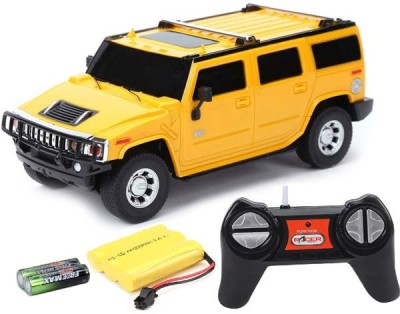 Cuddles collections Rc Rechargeble Toy Car H2 Suv(Yellow)