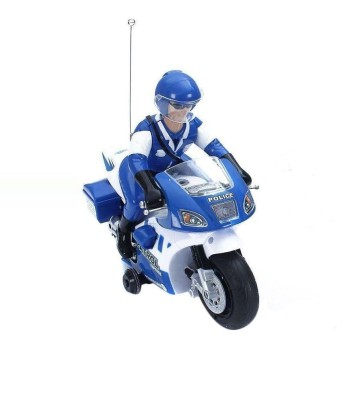 zaprap BATTERY RECHARGABLE REMOTE CONTROL POLICE BIKE