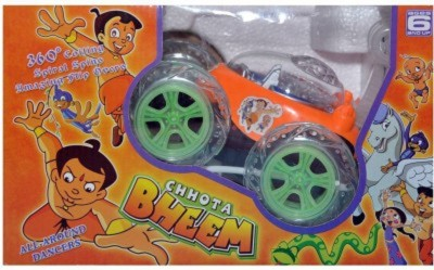 Khareedi Chhota Bheem Rechargeable Stunt Car With Remote Controller