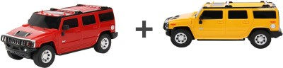 ECO SHOPEE REMOTE CONTROL 1:24 RED + YELLOW HUMMER CAR TOY FOR KIDS