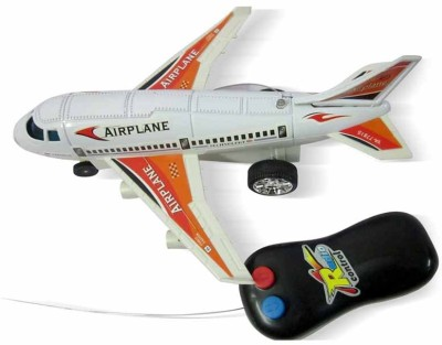 AIBANI New Radio Remote Control Airplane Aeroplane Battery Operated Toy For Kids(White)