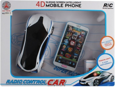 Just Toyz 4D Sliding Screen Intelligent I Phone Remote Controlled BMW like Rechargeable Model Sports Car with 12 Functions