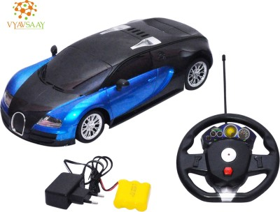 Vayvsaay Blue Stearin Remote Car With Rechargeable Battery