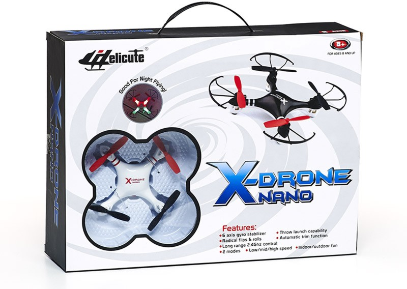 Lotus X-Drone Nano with Blade Protection (Red)(Multicolor)