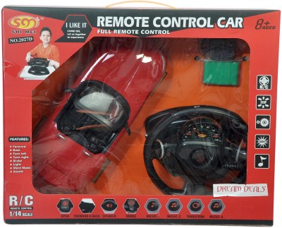 Dream Deals Shi Mei Racing Car With Chargeable Batteries, Gears, Fix Remote Control,1:14