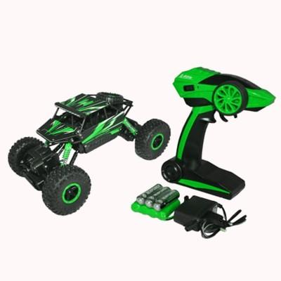 WebKreature Radio Control 4WD Rally Rock Crawler Monster Truck - Green