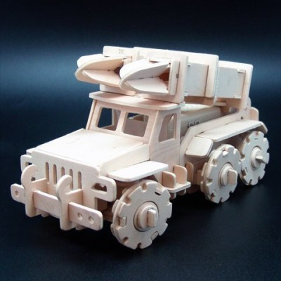Robotime V410 Military Control Missile Truck Wooden 3D Puzzle