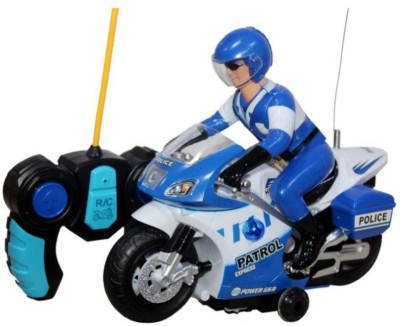 A M ENTERPRISES Remote Control Battery Operated Bike (Blue)(Blue)