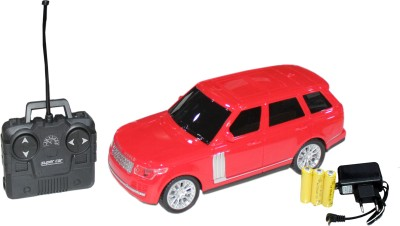 scrazy Red Range Rover with remote control car