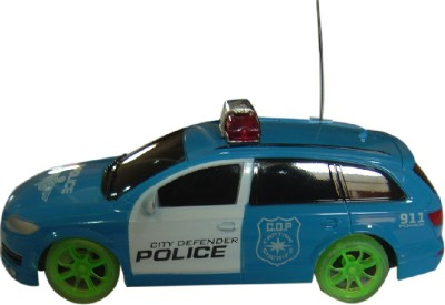 Brunte Blue Police Car With R Remote And Battery