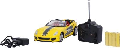 Emob Radio Control Yellow Car Fully Loaded Sports Model