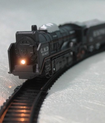 A R ENTERPRISES Black Battery Operated TrainToy With Head Light(Black)