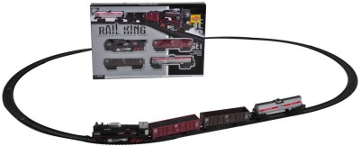 Venus-Planet of Toys Rail King Train Set With Front LED Light For 4-6 Years