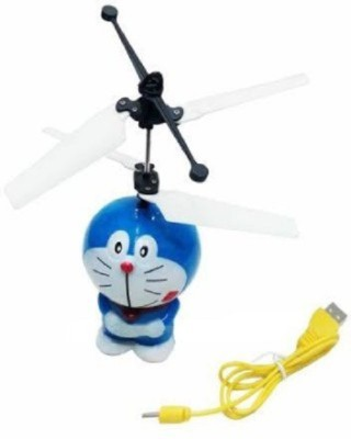 Tuzech Doraemon Aircraft Flying Induction Control Toy Gift For Kids(Windy Blue)