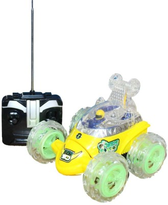 A R Enterprises Yellow Ben 10 Rechargeable Remote Control Stunt Car