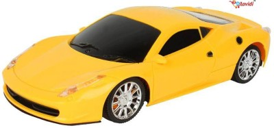 LAVIDI Battery operated Remote Controlled Dynamic Super Racing Car for Growing kids Yellow