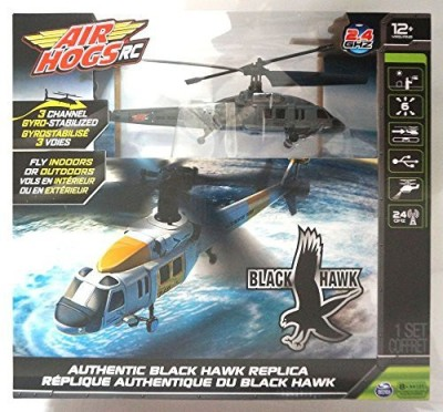Spin Mater Air Hogs Black Hawk 2.4 Ghz Rc Helicopter For Indoor