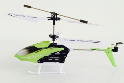 Toyhouse Speed Helicopter 3 Channel Infrared Remote Control with Gyroscope n LED Lights for Indoor, Green