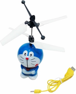 Gift World Doraemon Aircraft Hand Induction Control(Blue)