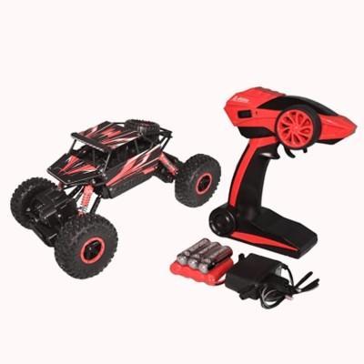 WebKreature Radio Control 4WD Rally Rock Crawler Monster Truck - Red