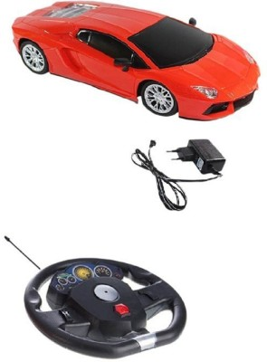 A R ENTERPRISES RED LAMBORGHINI RECHARGEABLE REMOTE CONTROL CAR