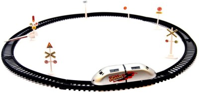 PTCMART High Speed Metro With Round Track Battery Operated Train(Multicolor)