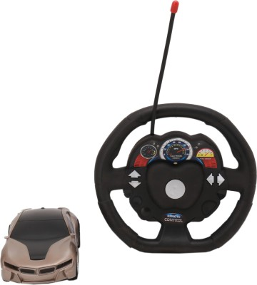Babytintin Remote Control car with led light and steering wheel