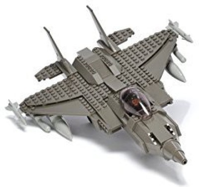 Ultimate Soldier Fighter Jet Military Building Kit, Grey