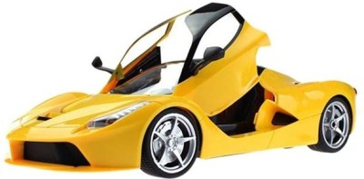 AZI Ferrari Style RC Rechargeable Car With Opening Doors - Yellow