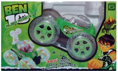 SHREE JI ENTERPRISES Ben 10 Stunt Car Rechargeable With Remote Controller