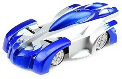 Khareedi Remote Control Wall Climber Car Toy(Blue, Silver)