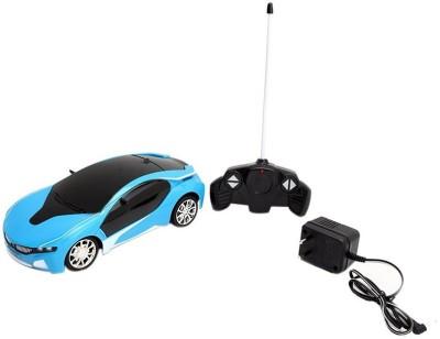Rey Hawk Remote Control Rechargeable Famous Car with 3D Led light - Blue