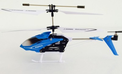 Toyhouse Speed Helicopter 3 Channel Infrared Remote Control with Gyroscope n LED Lights for Indoor, Blue