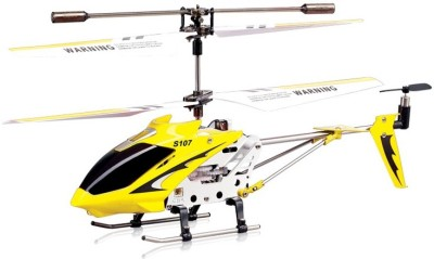 Toyhouse Metal Helicopter 3 Channel Infrared Remote Control with Gyroscope n LED Lights for Indoor(Yellow)