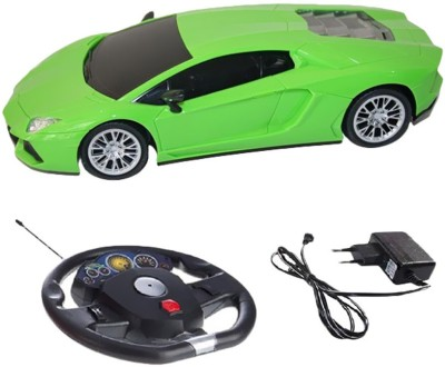 Zest4toyz Gravity sensing Steering 1:16 Lamborghini like die cast car with Rechargeable batteries & Charger Included