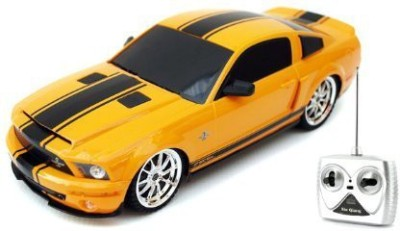 XQ TOYS 1:18 Licensed Shelby Mustang GT500 Super Snake Electric RTR Remote Control RC Car (Yellow)