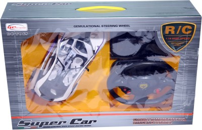INDIAKAAPNA SUPER CAR WITH STEERING WITH PADDLE STOP