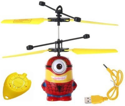 Gift World Flying Minion Despicable Me 3 Spiderman Induction Control Aircraft