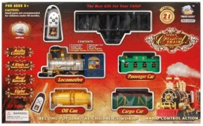 Shop & Shoppee Classical Battery Operated Radio Control Smoke Train set (21 Pcs)