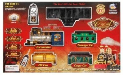 Infomya Series Classic Remote Control Train, Realistic Sound, Smoke And Light From Locomotive