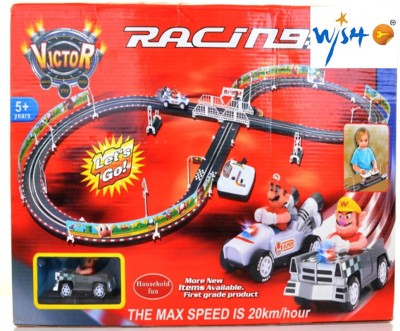 Wishkey Battery Operated Racing car Track Set(Multicolor)