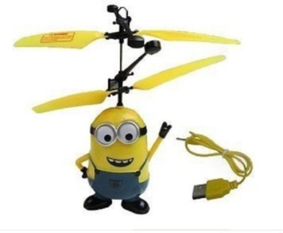 Tuzech Minion Aircraft Despicable Me 2 Flying Induction Control Toy Gift(Windy Yellow)