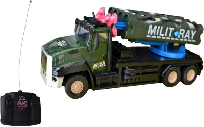 Taaza Garam Kids High Quality Imported RC Super Force Military Truck with Missiles Remote Control Truck - Gift Toy