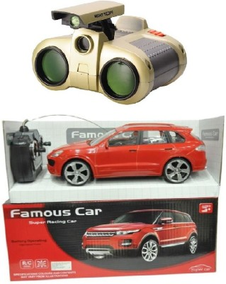 New Pinch Remote Control non- chargeable red famous car with binocular