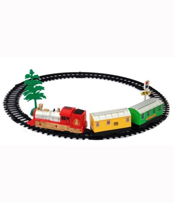 Zeemon Stylish Old Musical Sound Light Engine Battery Operated Train Set Toy