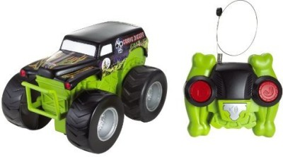 Hot Wheels Radio Control Monster Jam Grave Digger Cyclone Spinner