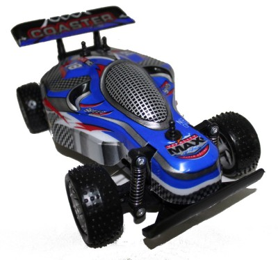 Brunte 1:18 Blue Off The Road Car With Rechargeable Battery And Round Remote