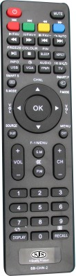 SJS China Lcd/Led Universal-2 Remote Controller(Black)