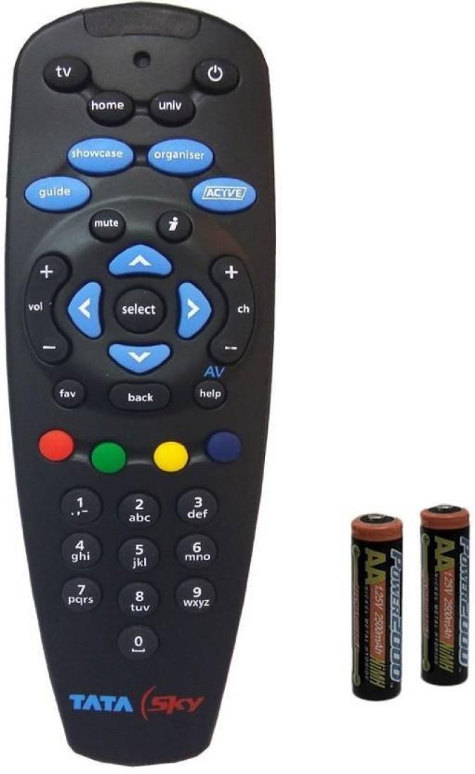 TATASKY Remote Controller Radhikacomnet Tata Sky Tata Sky universal Original Universal Remote Controller (Black) Remote Controller(Black)