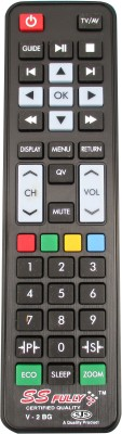 SJS Videocon Led Model-V2bg Remote Controller(Black)